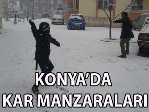 Konya'da Kar Manzaraları
