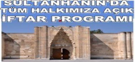 Sultanhanın'da İmamlar iftar Programı düzenliyor