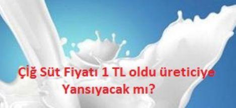 Çiğ Süt Fiyatı 1 TL oldu Ama Vatandaşa Yansıyacak mı?
