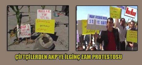 Eskilli Çiftçilerden ilginç zam protestosu