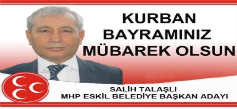 Salih Talaşlı'nın Kurban bayramı mesajı