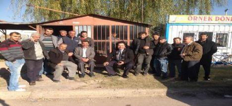 MHP Aksaray Belediye Başkan Adayı OPR. Dr. Rıfkı Karabatak'tan sanayi esnafına ziyaret