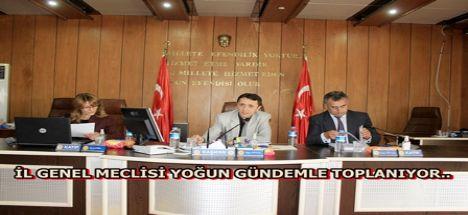 Aksaray il genel meclisi yoğun gündemle toplanıyor.
