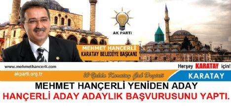 Mehmet Hançerli yeniden aday