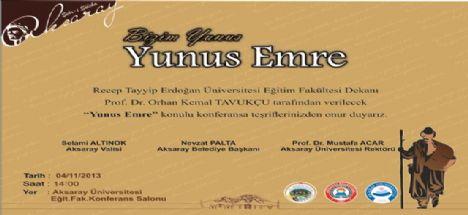 Yunus Emre Konulu Konferans Düzenleniyor