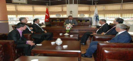 Konsiad Yönetimi Başkan Mehmet Hançerli'yi Makamında Ziyaret Etti