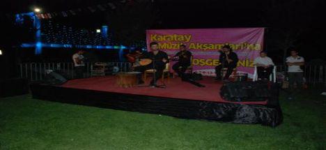 Karatay Müzik AkşamlarıTürk Halk ve Türk Sanat Müziği konserleri