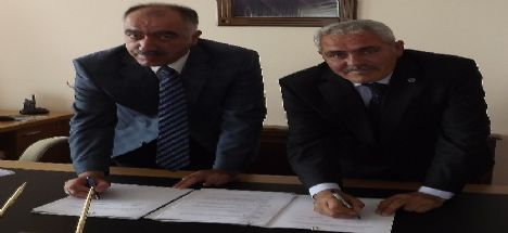 Sentetik Yüzeyli Futbol Sahasının yapımı için protokol imzalandı.