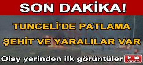 Tunceli'de patlama 6 Asker Şehit