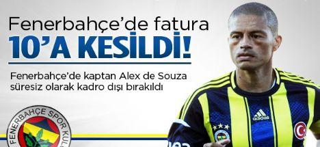 Fenerbahçe'de Alex süresiz kadro dışı!