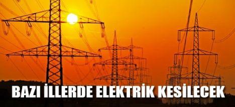 Bazı İllerde Elektrik Kesintisi