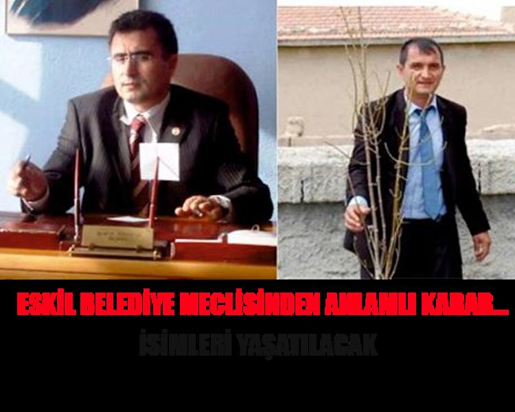 Eskil Belediye Meclisinden Anlamlı Karar…