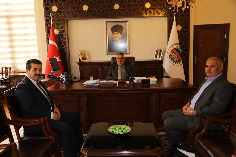 Sadrettin İriş ve Muhtar Ahmet Kırlı'dan Vali Pekmez'e ziyaret!