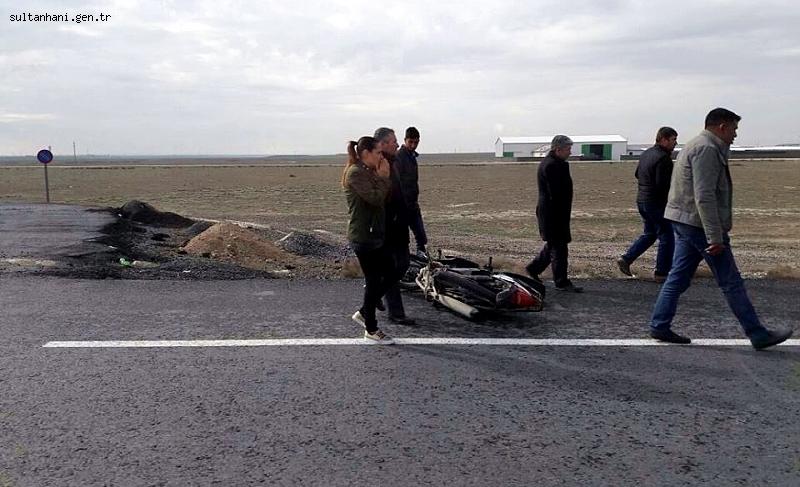 Sultanhanı vatandaşa Aksaray yolu üzerinde bir otomobil çarptı...