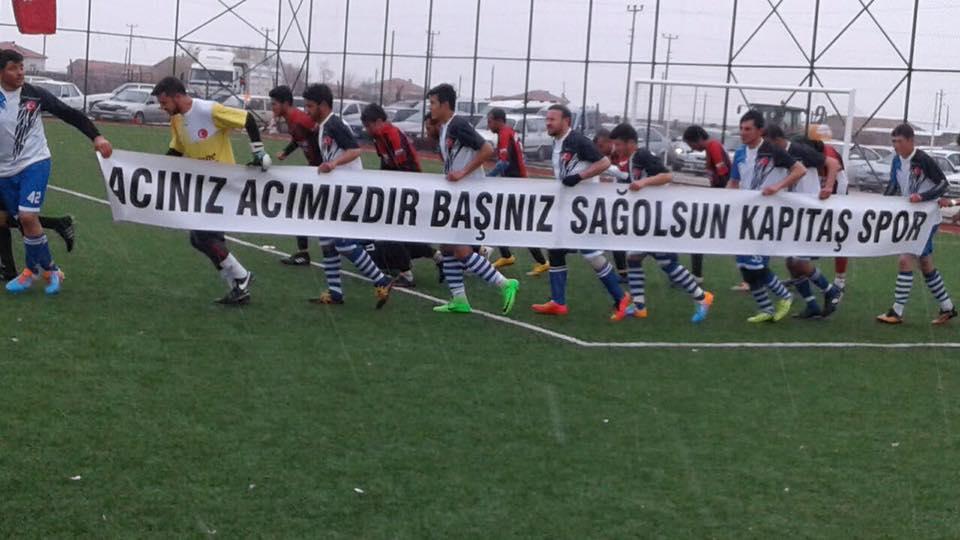 Böğetspor'dan Final Maçında Anlamlı Pankart!