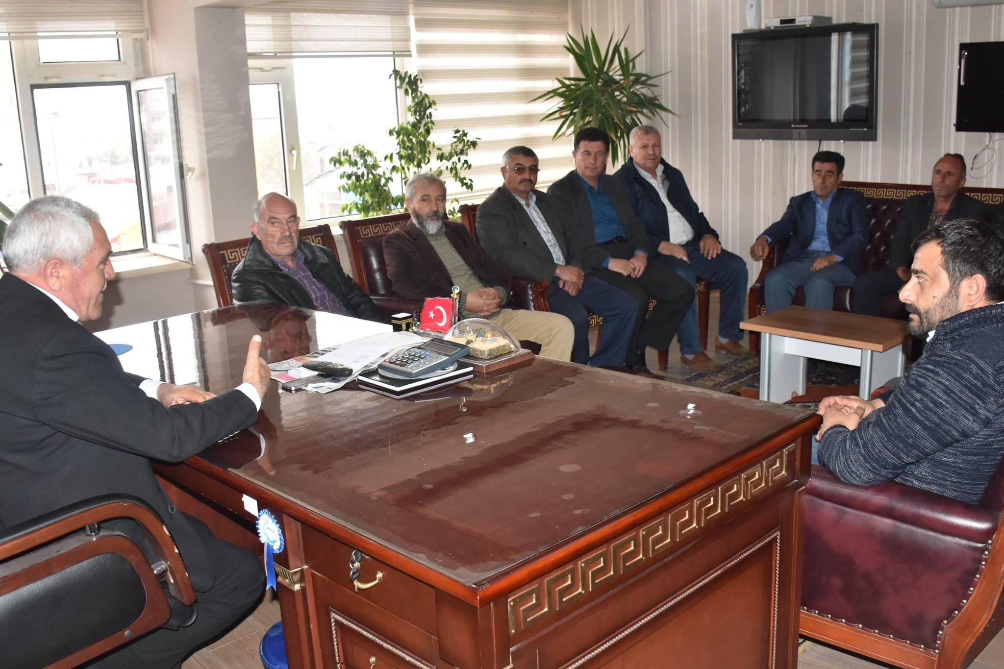 MHP Eskil İlçe Teşkilatından, Belediye Başkanı Niyazi Alçay'a ziyaret