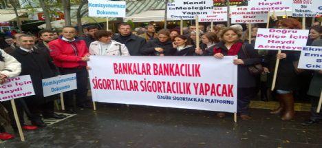 Sigortacılar Ankara'da Eylem yaptılar