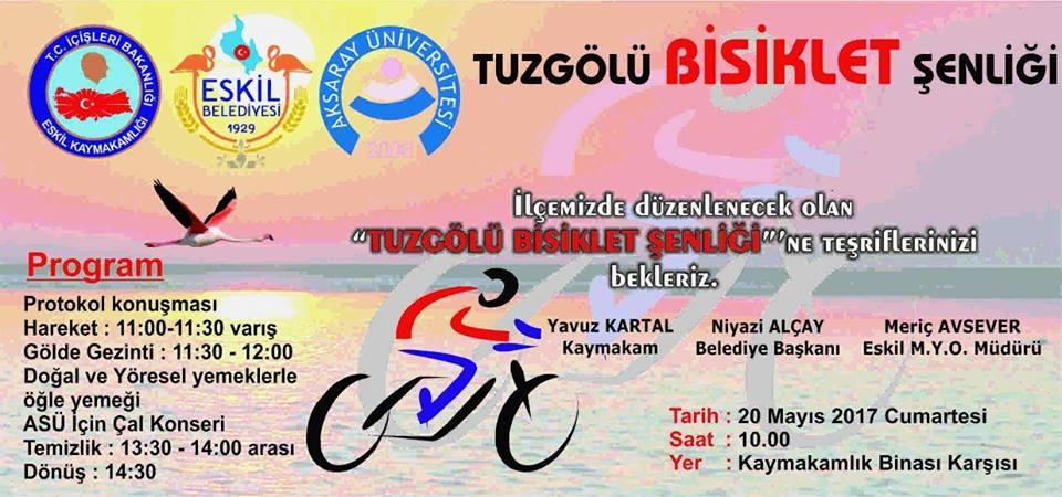 Eskil'de Tuz Gölü Bisiklet Şenliğinin 2.si  Düzenleniyor