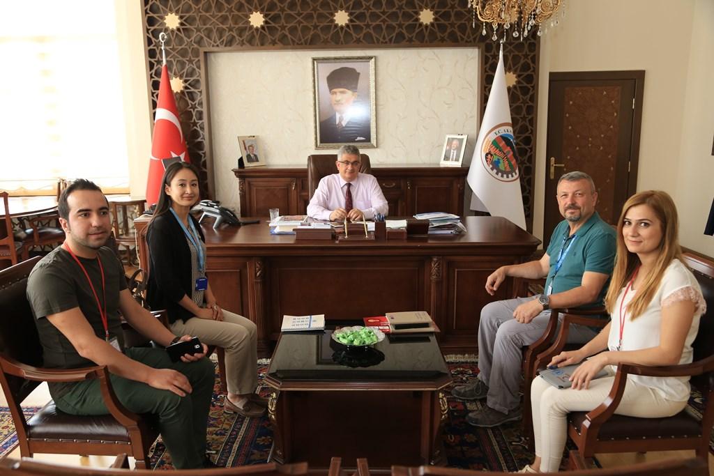 BM  Dünya Gıda Programı (WFP) Ankara Bölge Ofis Müdürü Nozomi Hashimoto Vali Aykut Pekmez'e ziyaret!