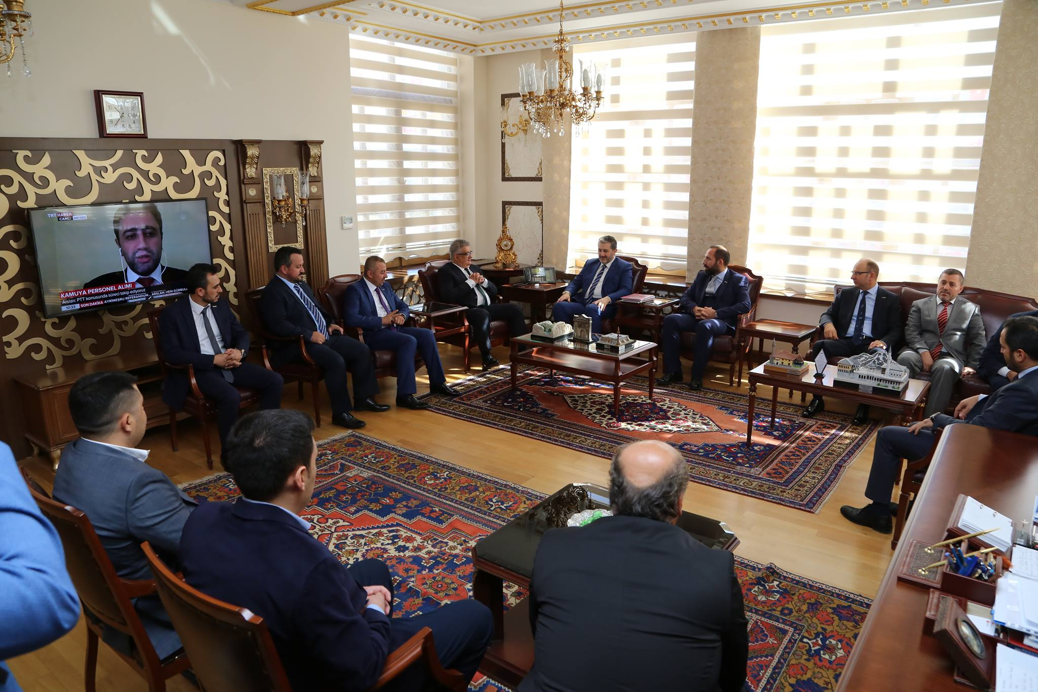 MÜSİAD Genel Başkanı Abdurrahman Kaan Vali Aykut Pekmez'i ziyaret etti