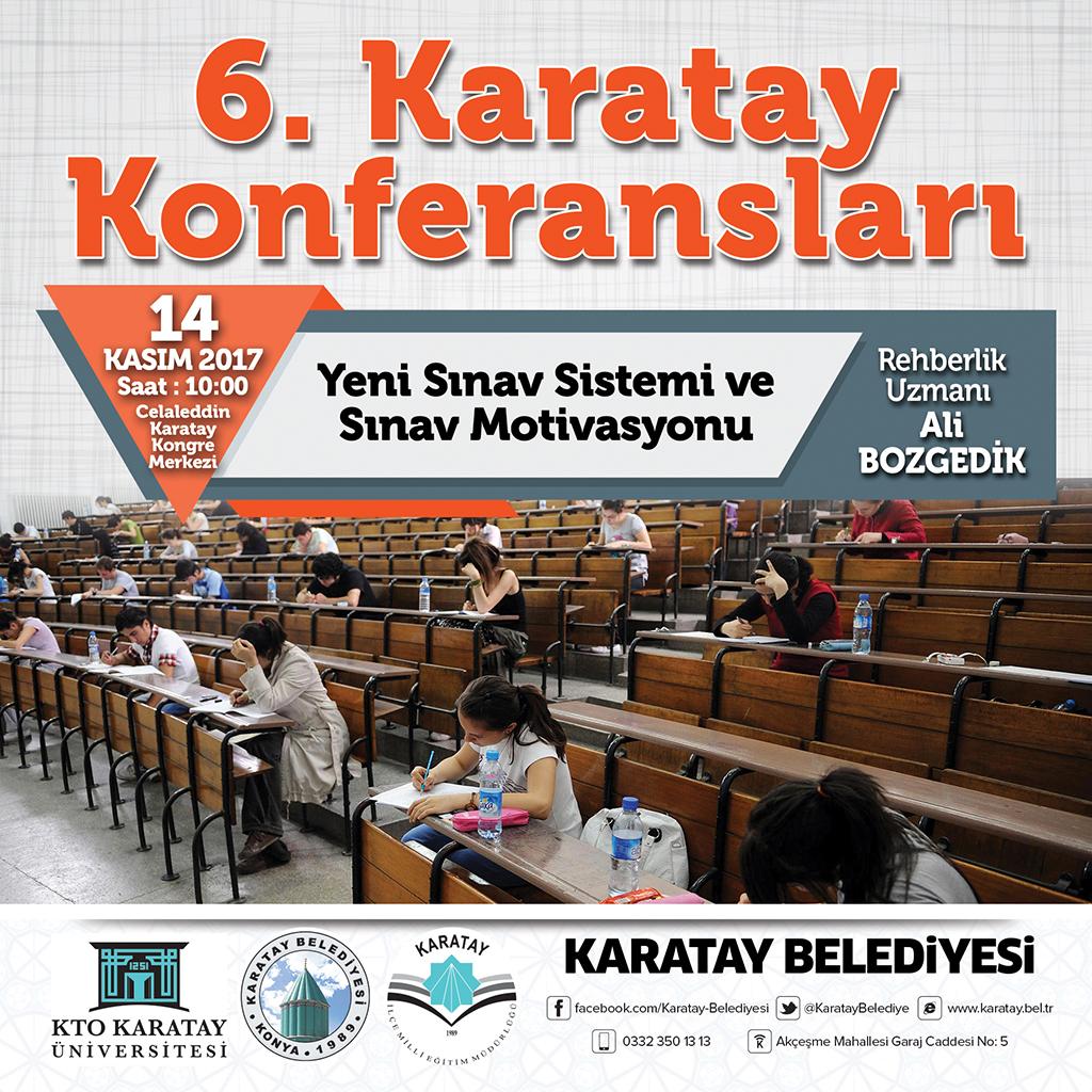 """Karatay Konferansları """"Yeni Sınav Sistemi ve Sınav Motivasyonu"""" Konulu Konferans ile Başlıyor"""