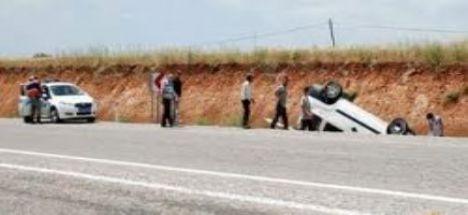 Bozcamahmut yakınlarında kaza 1 ölü 6 yaralı