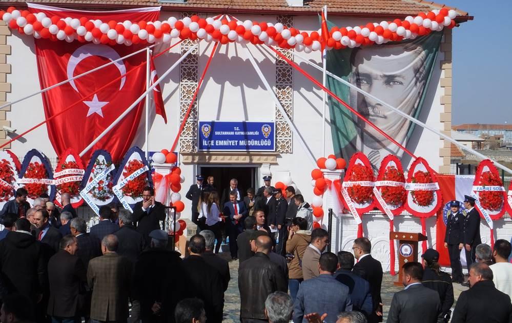 Sultanhanı İlçe Emniyet Müdürlüğü Törenle Açıldı