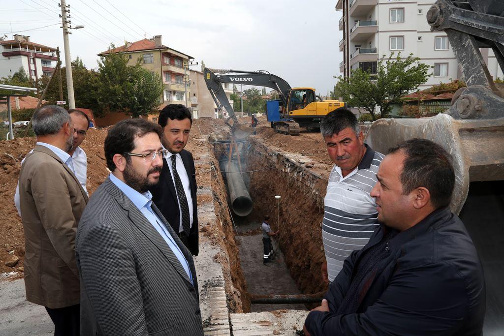 """Başkan Yazgı """"halkımız evindeki musluktan akacak kaliteli suyu rahatça içebilecek"""""""
