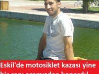 Eskil'de Motosiklet kazası yine bir can aldı