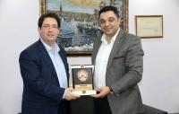 Ahmet Koçaş'tan teşekkür plaketi