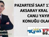 Fizyoterapist Abdullah Güdendede Aksaray Kral FM' de Canlı Yayın Konuğu Olacak