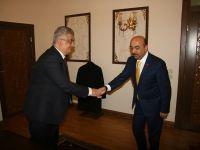 İl Milli Eğitim Müdürü Hacı Ömer Kartal ve Öğretmenlerden Valimiz Sayın Aykut Pekmez'e ziyaret
