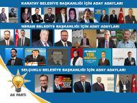 Ak Parti'nin, Karatay, Meram ve Selçuklu' da aday adayları netleşti