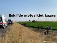 Eskil'de Yine motosiklet kazası: 1 ölü