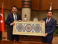 Çevre ve Şehircilik Bakanı Kurum, Başkan Kılca'yı ziyaret etti.